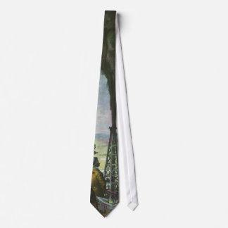Cravates Affaires vintages, pétrole de jaillissement puits