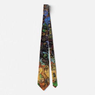 Cravates Arbres de Van Gogh dans le jardin, hôpital de