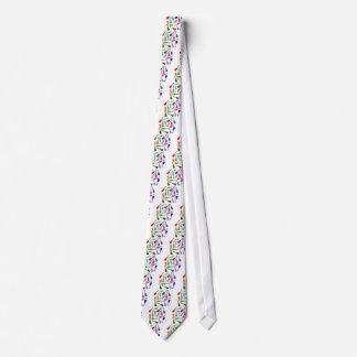 Cravates Arc-en-ciel d'ukulélé