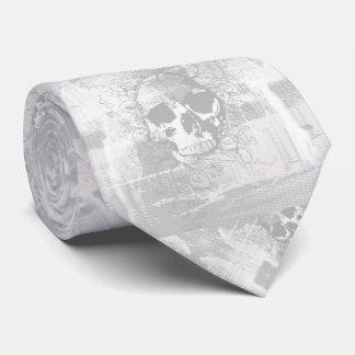 Cravates Art blanc gothique de crâne de Ghosted