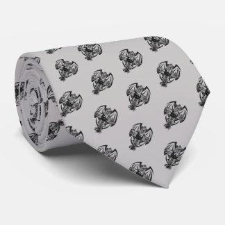 Cravates Art gothique croisé tribal de crâne