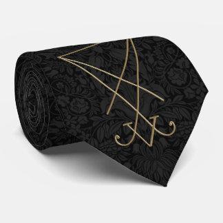 Cravates Art gothique de Sigil d'alchimie de Lucifer
