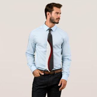 Cravates Art gris de Goth de damassé équilibré par rouge de