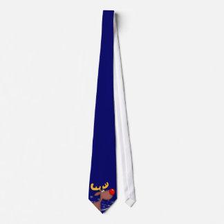 Cravates Bande dessinée Rudolf sur Noël bleu