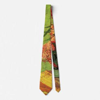 Cravates Beaux-arts de Van Gogh, vase avec des oléandres et