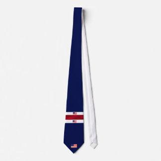 Cravates Blanc de drapeau américain et bleu rouges