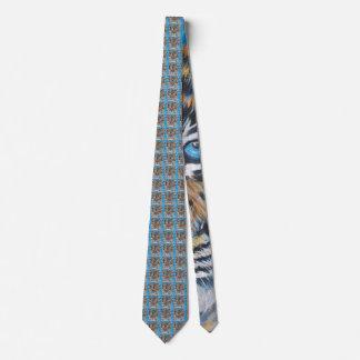 Cravates Bleu de tigre