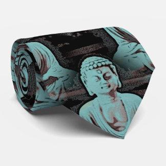 Cravates Bouddha bleu - grand