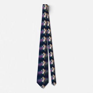 Cravates Chat de pizza - chat de l'espace - dans l'espace -