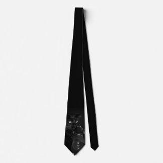 Cravates Chat noir drôle avec l'appareil-photo