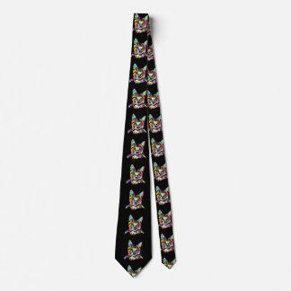 Cravates Chats colorés - colorcat - peinture de chat