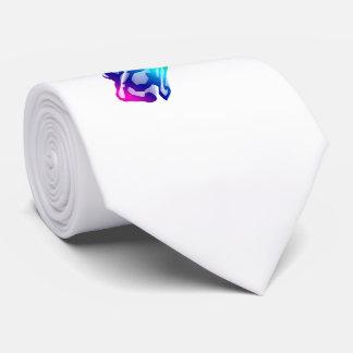 Cravates Cheval courant d'arc-en-ciel avec la traînée de