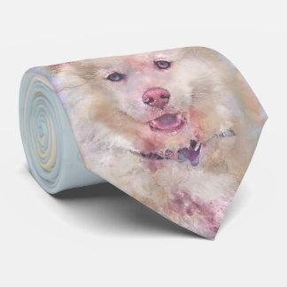 Cravates Chien de chien de traîneau d'aquarelle