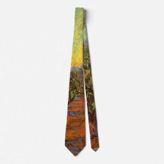 Cravates Ciel orange de verger olive de Van Gogh,
