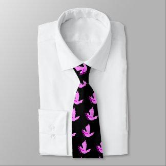 Cravates Colombe de ruban de rose d'espoir - cancer du sein