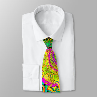 Cravates Comme la fractale psychédélique vibrante de