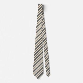 Cravates Conception ene ivoire grise de motif de rayures de