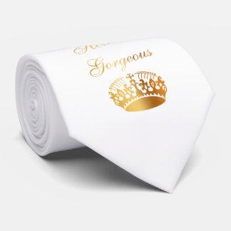 Cravates Conception girly de luxe chic de citation d'or