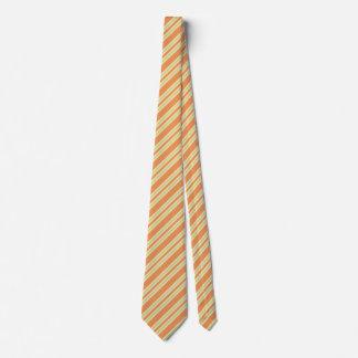 Cravates Conception orange de motif de rayures bleues de