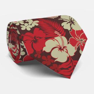 Cravates Copie hawaïenne de chemise de ketmie de baie de