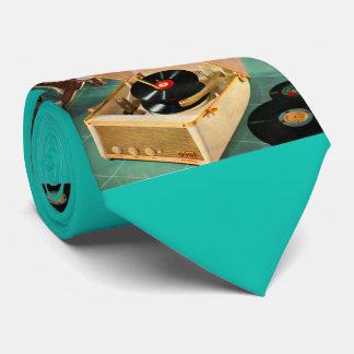 Cravates copie portative de tourne-disque des années 1950