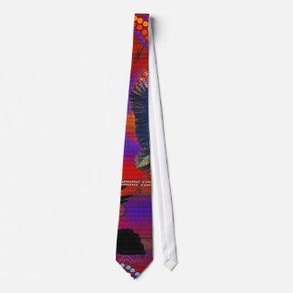 Cravates Coucher du soleil sur l'art indigène australien de