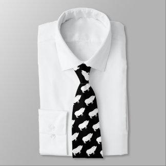 Cravates Couleur noire et blanche de coutume d'amant de