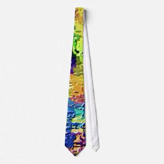 Cravates Couleurs d'arc-en-ciel - thérapie V21 de haute