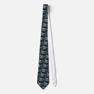 Cravates courant d'eaux vertes