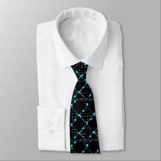 """Cravates """"Cravate noire de Matrix"""" avec un plus grand motif"""