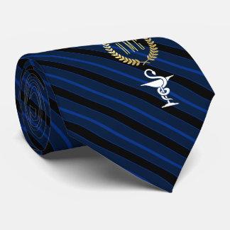 Cravates Cuvette professionnelle vétérinaire de bleu de