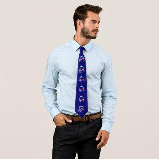 Cravates Dauphin d'aquarelle, éléphant, kangourou, Eagle