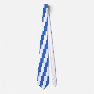 Cravates De coupure bleu dessus -
