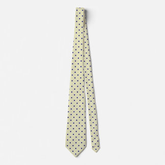 Cravates de point de polka pour la cravate jaune
