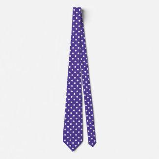Cravates de point de polka pourpres et motif rose