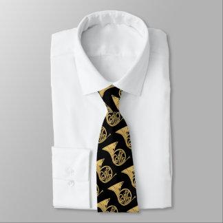 Cravates Dessin d'instrument de musique de cor de harmonie
