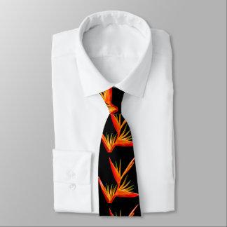 Cravates Élégant, beau, oiseau de fleur de paradis