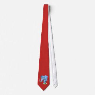 Cravates Éléphant bleu mignon de personnaliser pour la