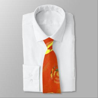 Cravates Examiné orange