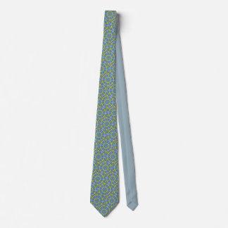 Cravates Fenêtre en verre teinté de bleu et d'or