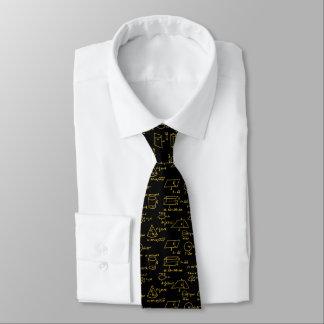 Cravates Figures et maths géométriques Eqns - or métallique