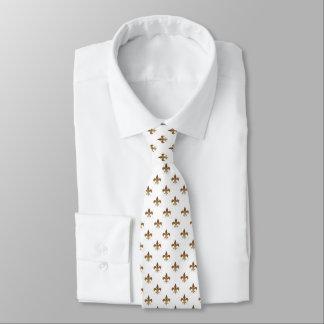 Cravates Fleur de lis aux nuances du brun