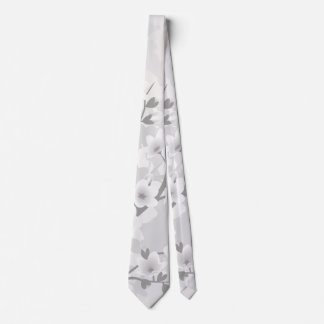 Cravates Fleurs de cerisier grises chaudes