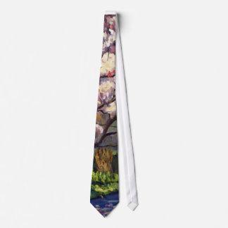 Cravates Fleurs de la peinture à l'huile impressionniste