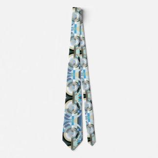 Cravates Formes géométriques d'art déco de jazz vintage de