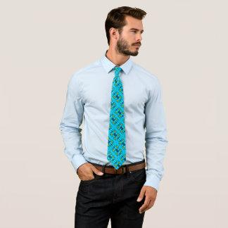 Cravates Foulard décoratif en soie sacré du bleu des hommes
