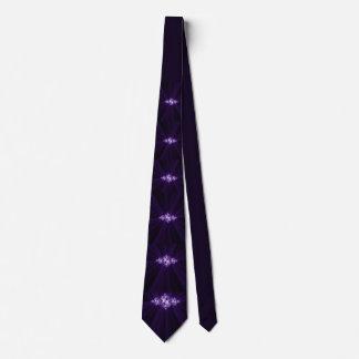 Cravates Fractale blanche sur l'arrière - plan pourpre