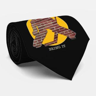 Cravates Gardien de but d'hockey de mur de briques