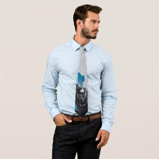 Cravates Graphique de pointe noir de caractère de la