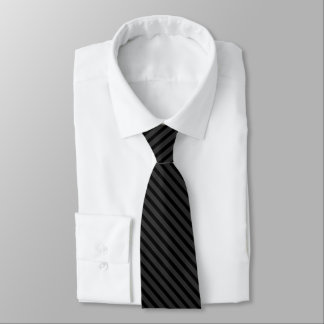 Cravates Gris de charbon de bois mince de rayure de smoking